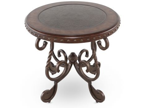 Living Room End Tables Ash T382 6 Ashley Rafferty Round End