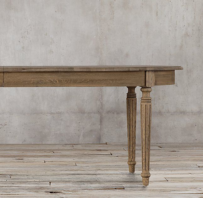 Vintage French Fluted Leg Extension Dining Table No Longer Available