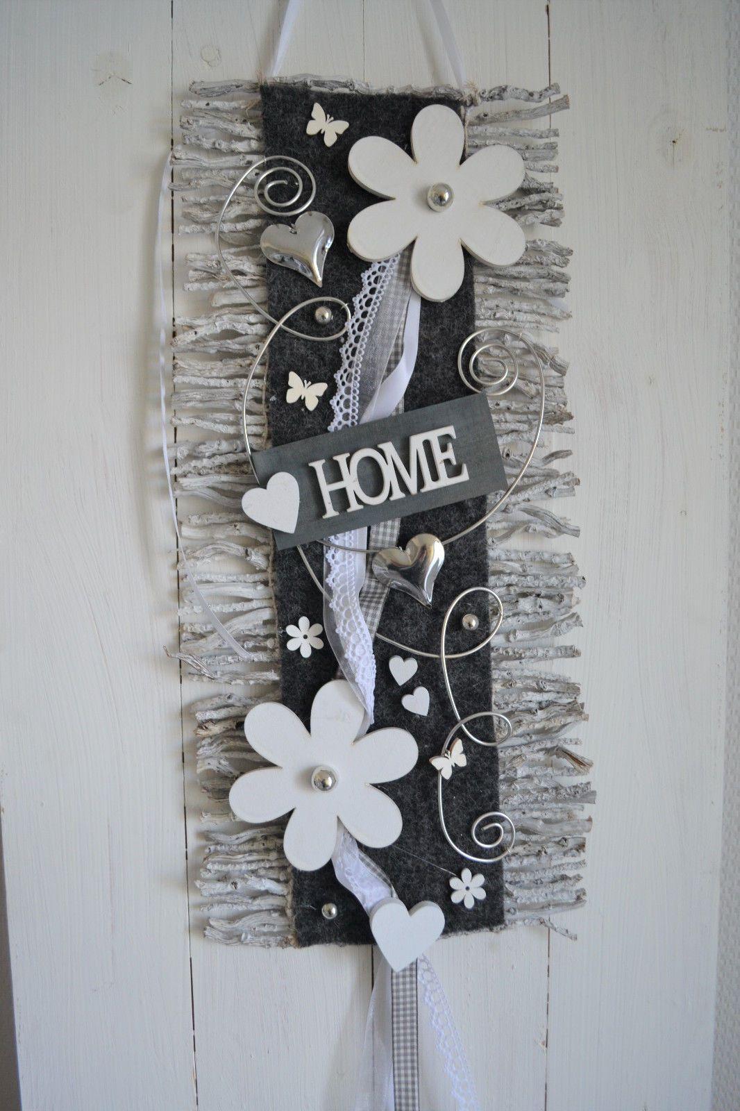 Türschmuck türkranz türschmuck türdeko rebenmatte grau weiß home blüten in