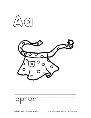 Print Out This Coloring Book About the Letter \'A\' for Your Child ...