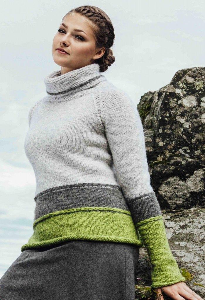 Photo of Tri-farge genser | Garnpakker med strikkeoppskrifter fra Sidsel J. Høivik