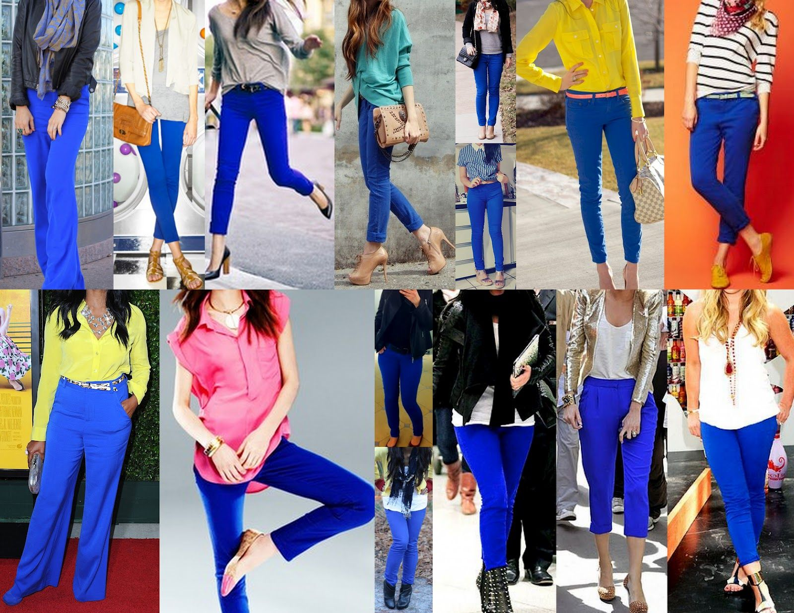 Uncategorized Which Colour Goes With Blue best 25 cobalt pants outfit ideas on pinterest how to wear pants