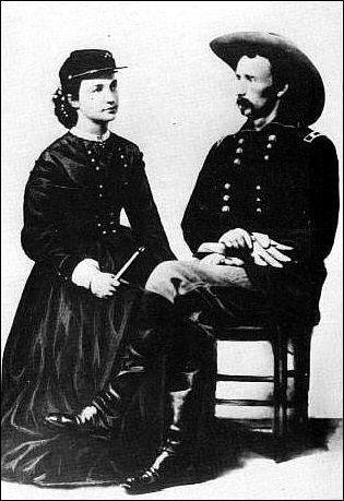 43c793b8280 Mrs. General Custer at Fort Riley - Kansas Historical Society