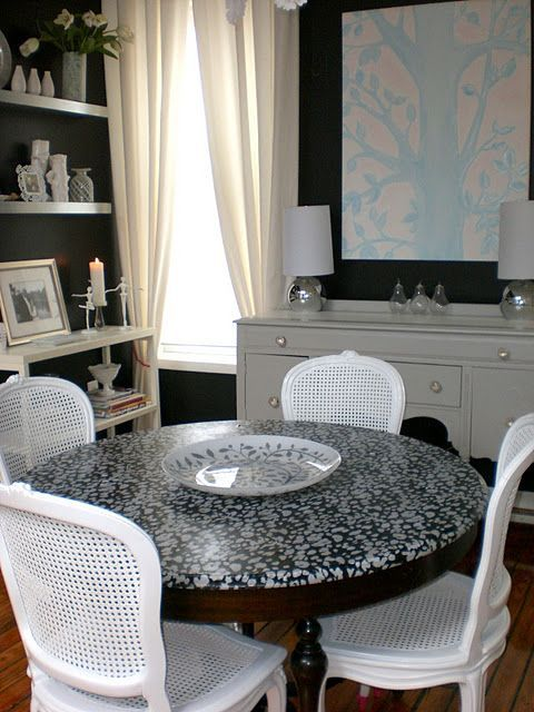 diy decoupage furniture. Decoupage Furniture With Fabric....after Dining Room Table Shopping Today I See Diy