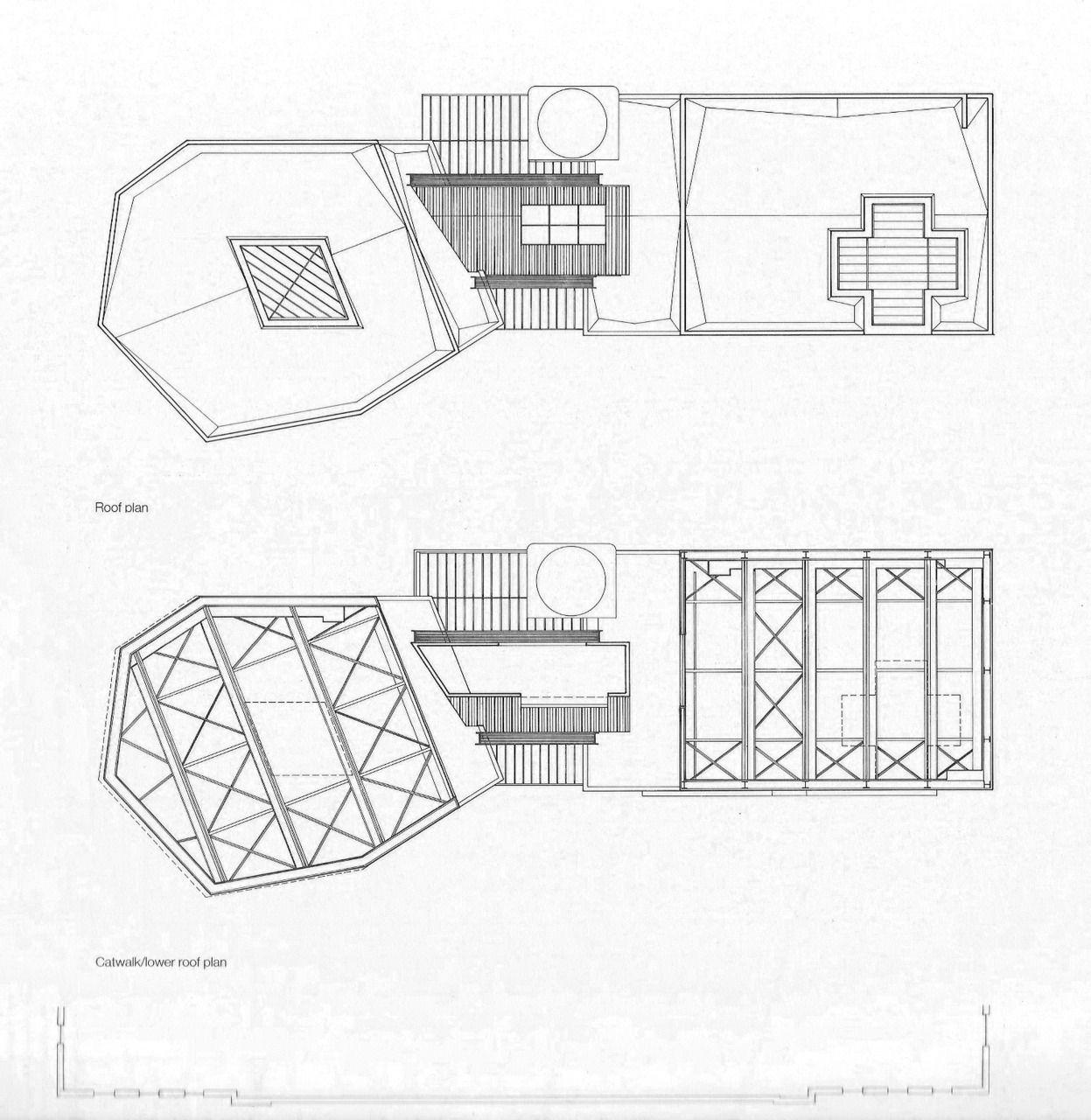 Frank O. Gehry California Aerospace Museum Roof plan