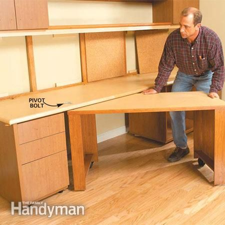 hidden home office desk diy. how to build a home office hidden desk diy s