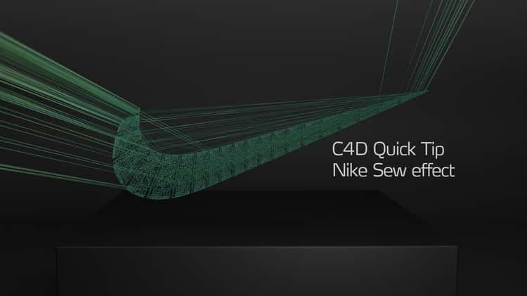Quick Tip Nike Sew Effect | Cinema 4D | Cinema 4d tutorial