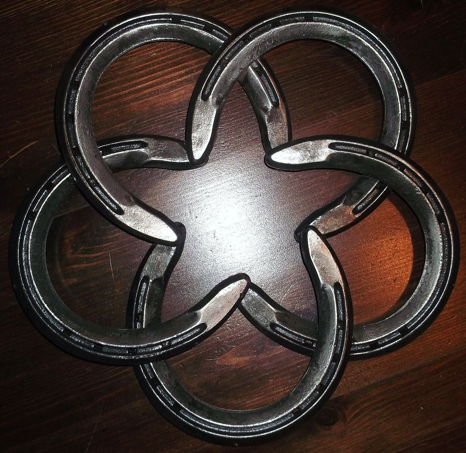 Flower Made From Horseshoes
