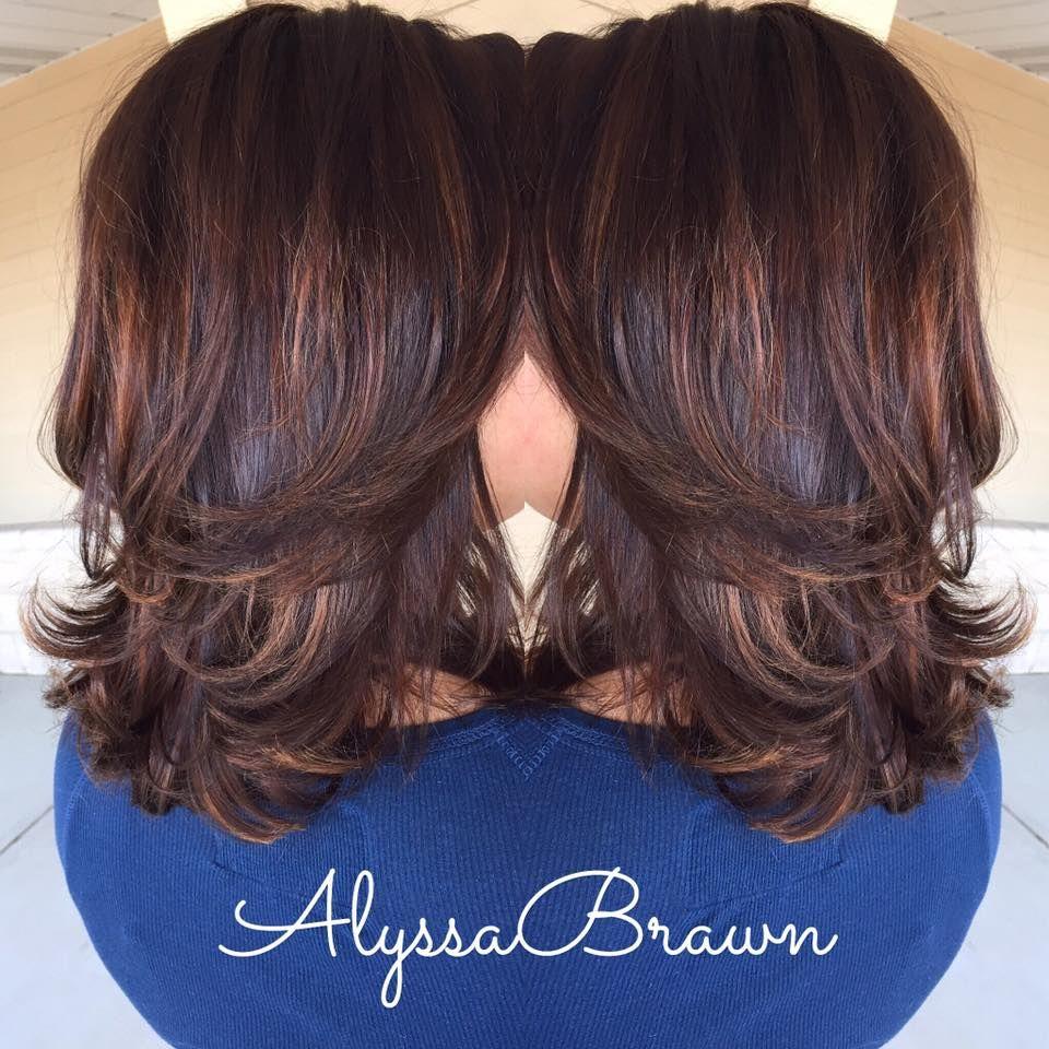 Balayage Baly Highlights Caramel Brunette Hair Shoulder Length