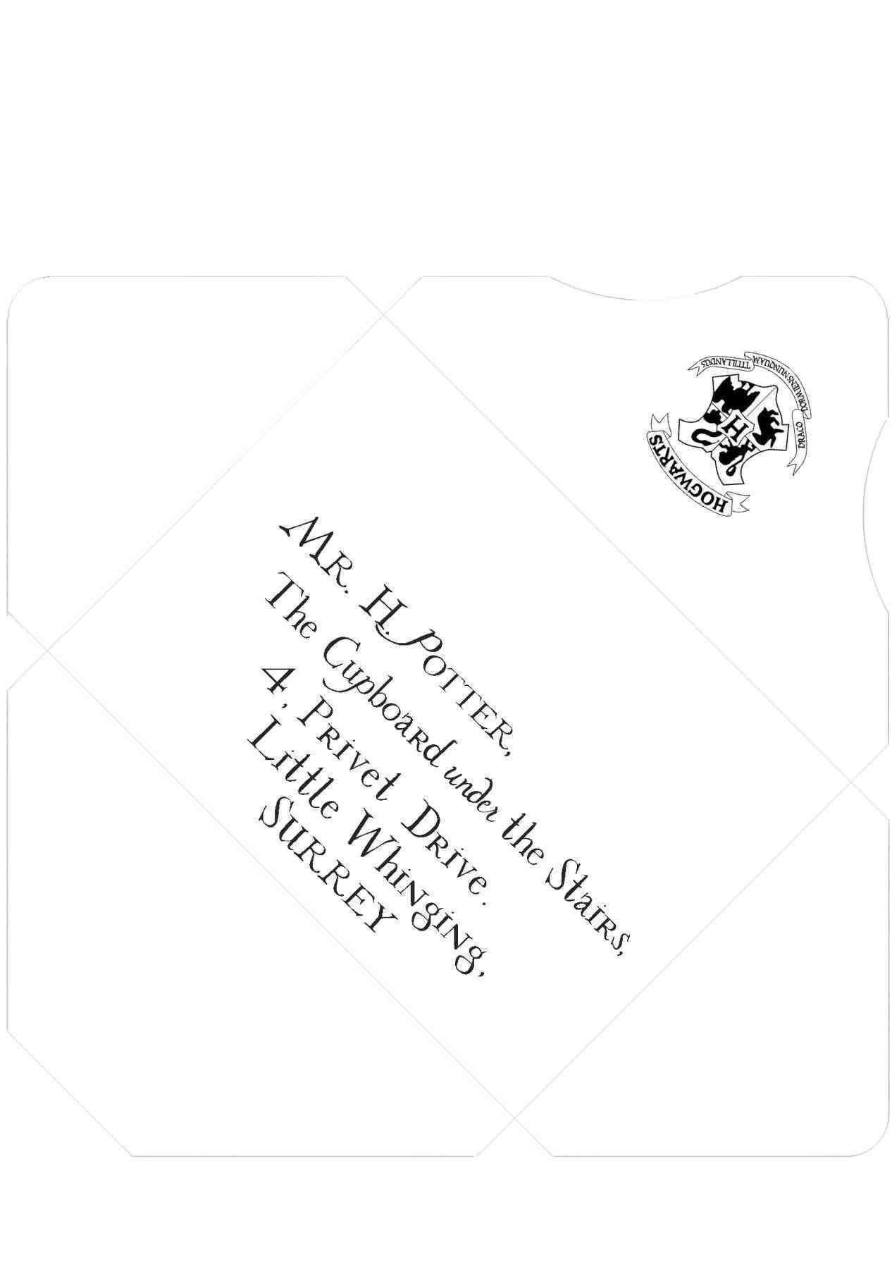 Envelopes Free Printable Tooth Receipt Printable Harry Potter