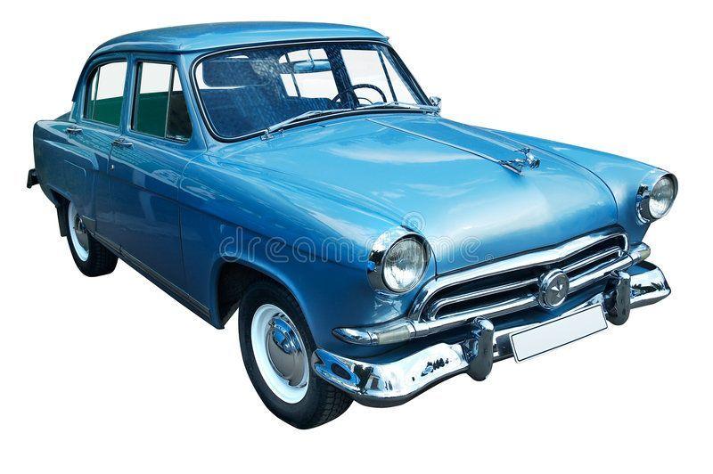 Classic Blue Retro Car Isolated Stock Image – Image of past, transportation: 802…