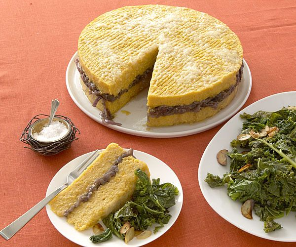 Roasted Squash and Polenta Torta with Red Onion Marmalade by Fine Cooking