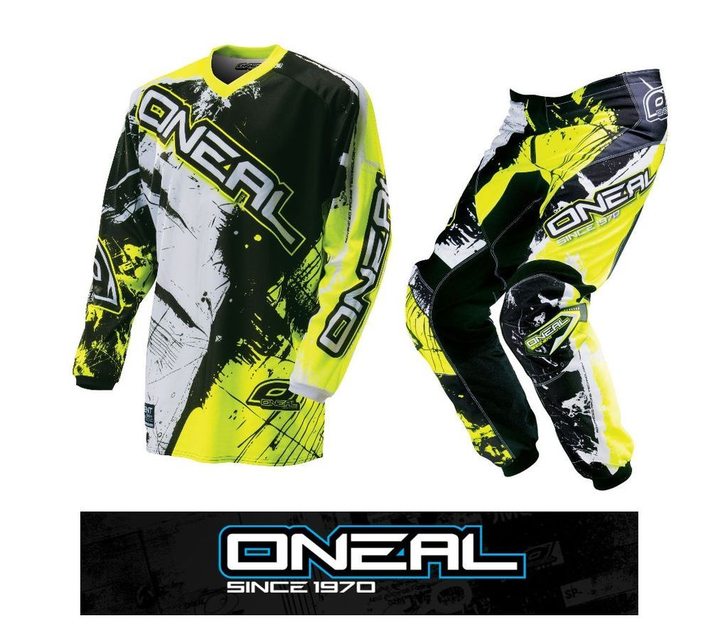 b15938f3f 2016 ONEAL YOUTH SHOCKER HI-VIZ YELLOW MX JERSEY PANT 2 PC COMBO MOTOCROSS  ATV  onealmx  mx  sx  RidingGear  combo  ama