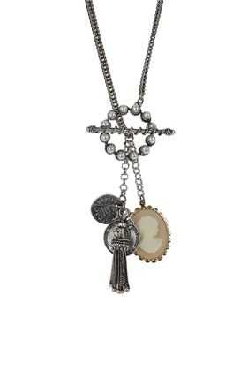 Mixed Charm Cameo Necklace