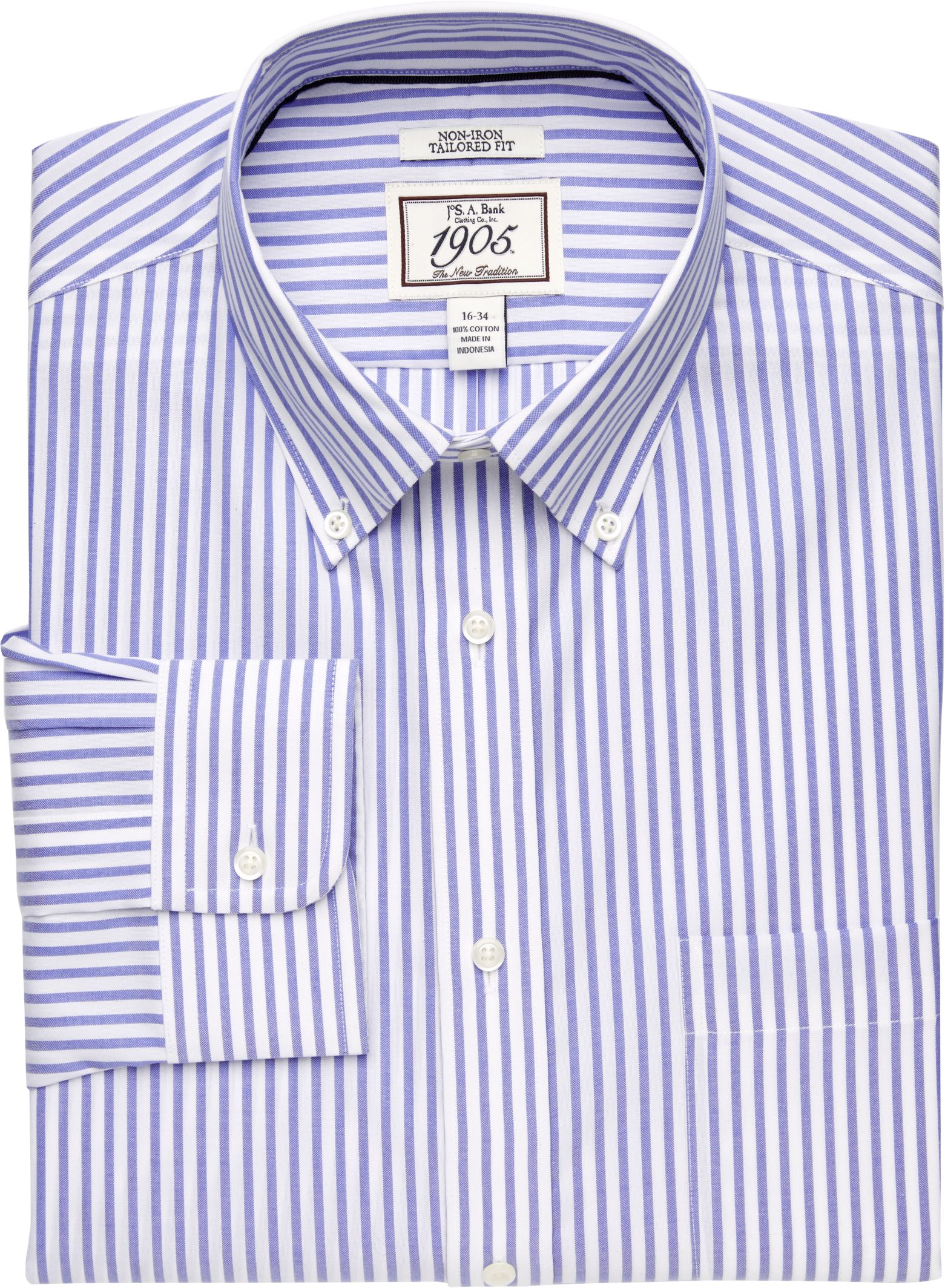 Mens Tailored fit Buttoned Down Dress Shirt