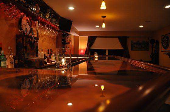 Rojo Y Negro Copper Bar Top W/ Epoxy   Reverse Side Of Sheet Used #