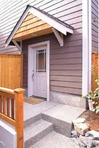 How To Build A Wood Awning Over Door