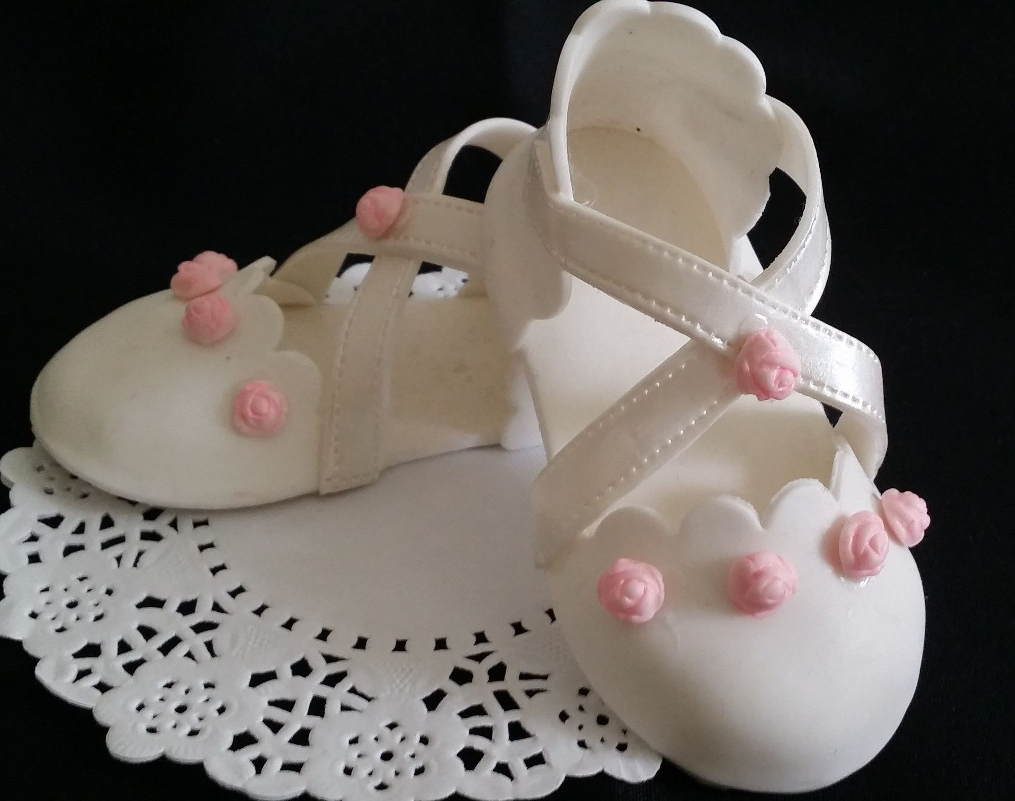 Baby Girl Cake Topper, Baby Girl Shoes Cake Topper, Baby Shower Cake  Decorations,