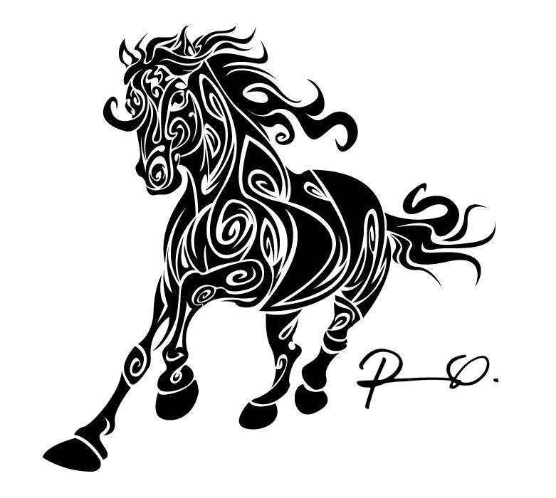 horse tattoo design pinterest pferde. Black Bedroom Furniture Sets. Home Design Ideas