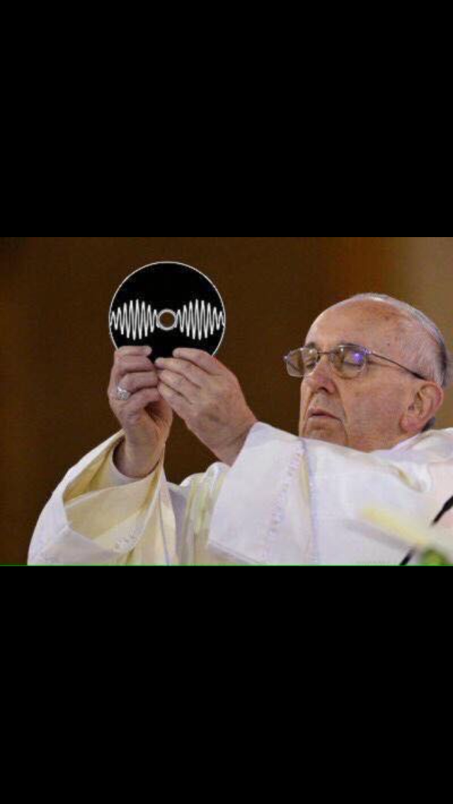 That's it...exalt that sacred disk...