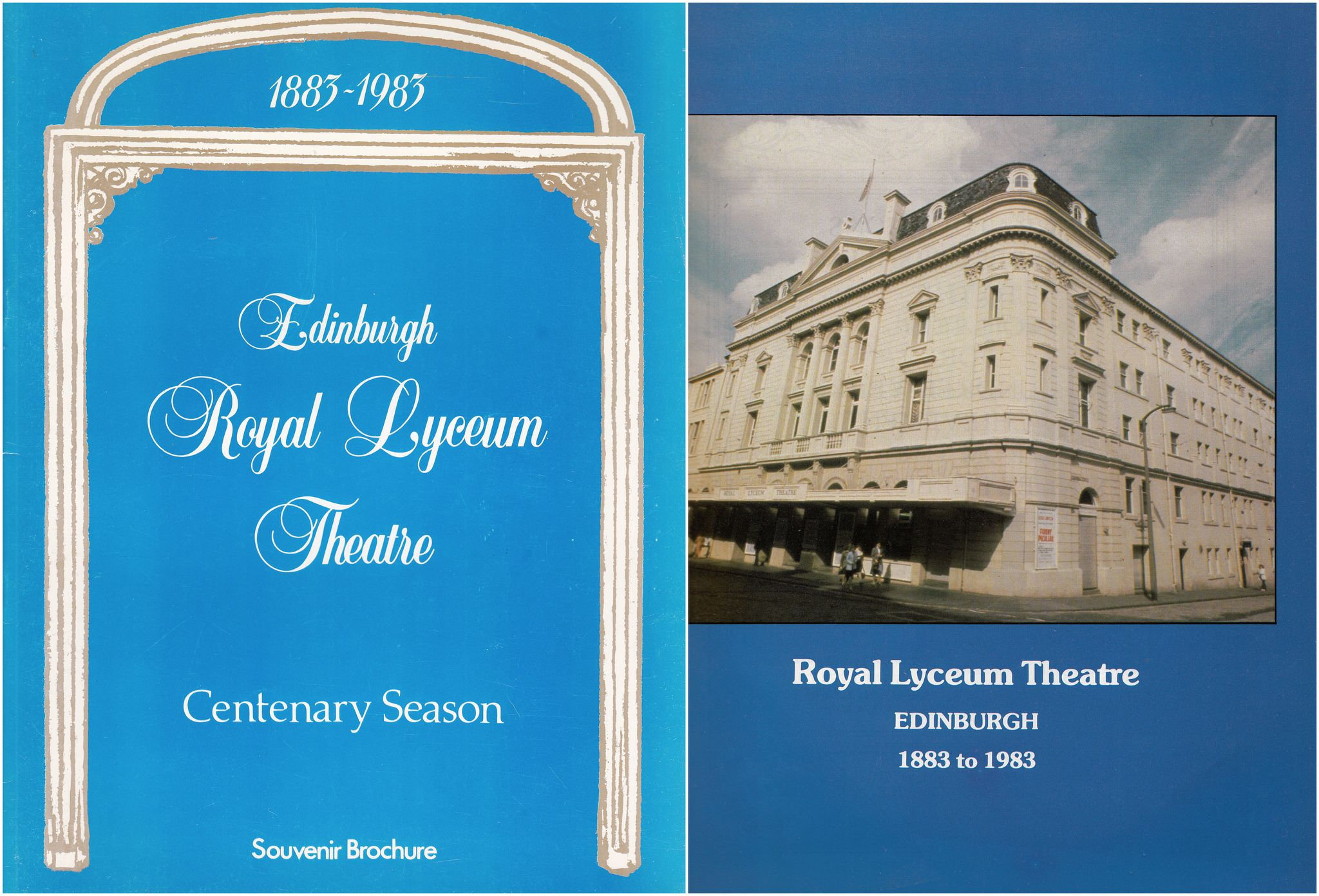 Souvenir Brochure for Centenary Season of Royal Lyceum Theatre 1883 1983