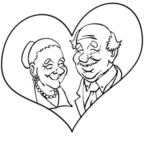 Раскраска ко дню пожилых людей для детей