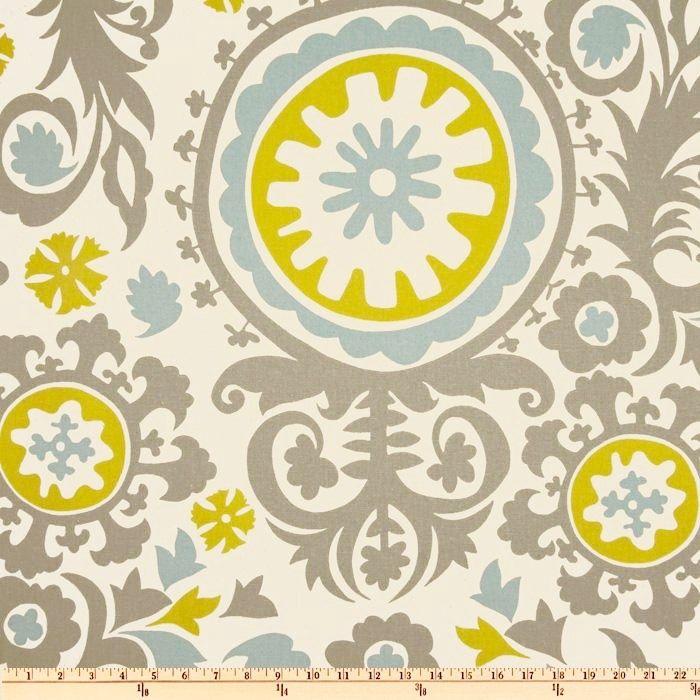 Yellow Green Chevron fabric Premier Prints Zigzag Summerland ...