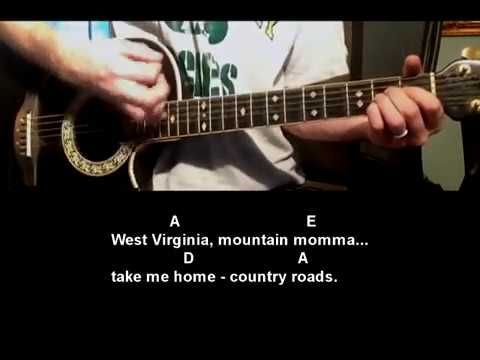 How to play Take Me Home Country Roads by John Denver - Guitar ...