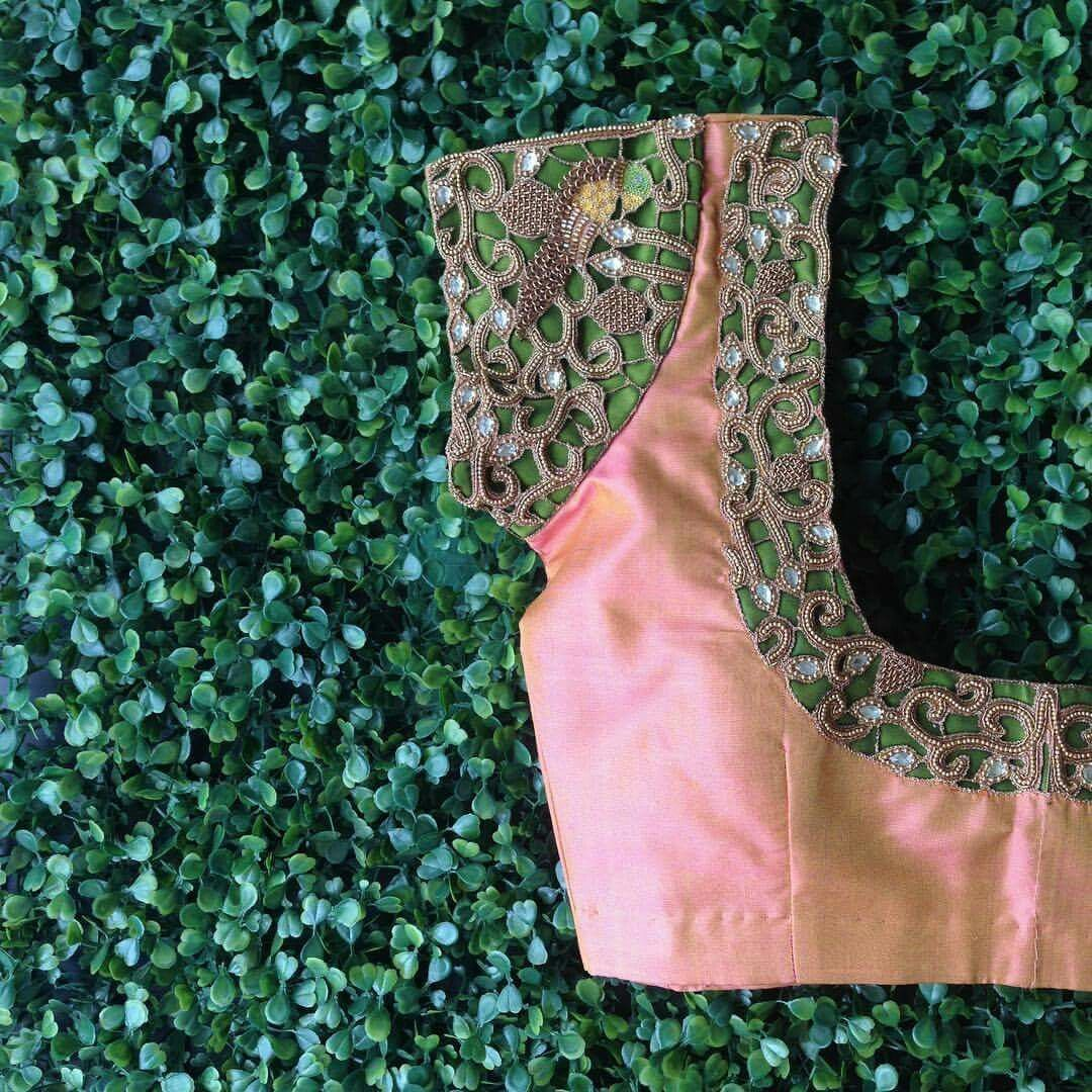 Silk saree blouse designs without embroidery patch work lovely combination done  blouse design  pinterest