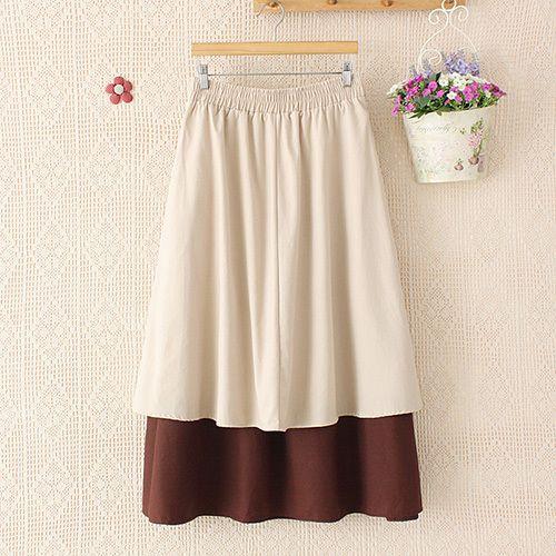 Fashion Single-breasted Irregular Skirt