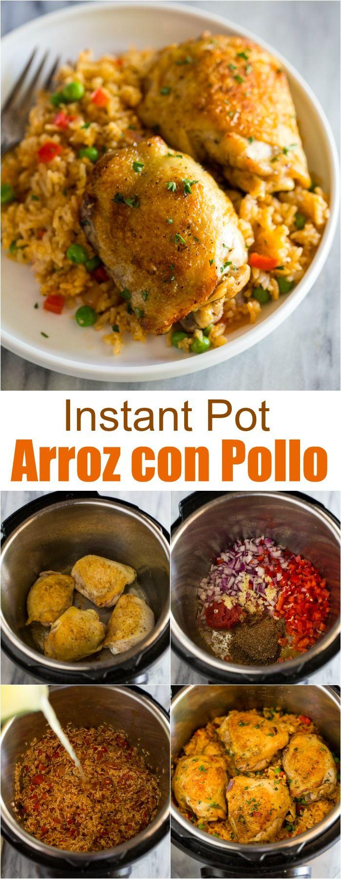 Instant Pot Arroz con Pollo #instantpotrecipes