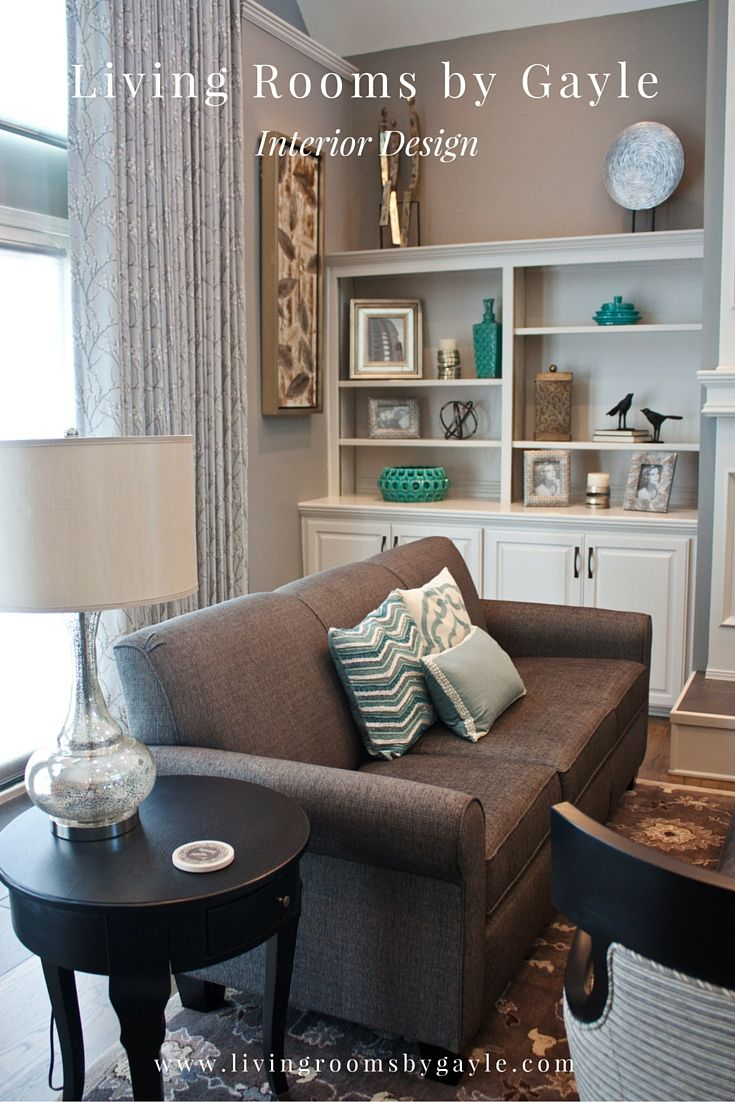 Gray And Off White Living Room With Teal And Turquoise Accents
