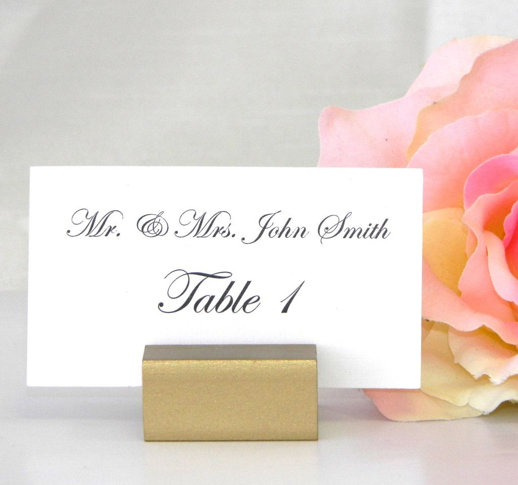 Antique Gold Place Card Holder | Place card, Place cards and Wedding