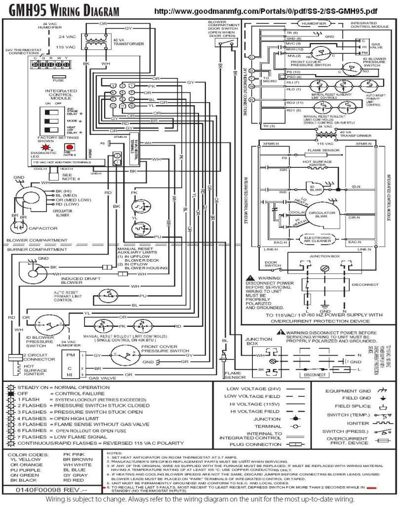 goodman furnace schematic diagram wiring diagrams cheap Goodman Gas Electric Fan Relay