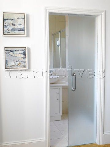 Contemporary ensuite bathroom with frosted glass door  sc 1 st  Pinterest & Contemporary ensuite bathroom with frosted glass door | All things ...