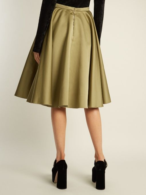 Discount Big Discount Co Woman Pleated Color-block Duchesse-satin Midi Skirt Brown Size M Co 2018 New Online VGEy6M4RBo