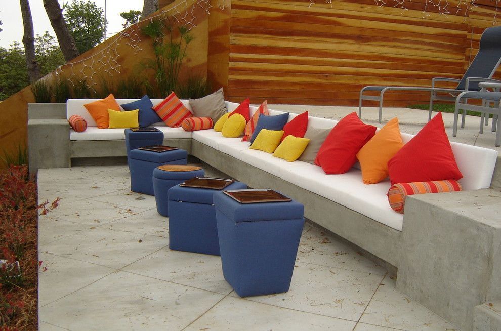 Deep Seat Patio Cushions Patio Contemporary with Blue Bright
