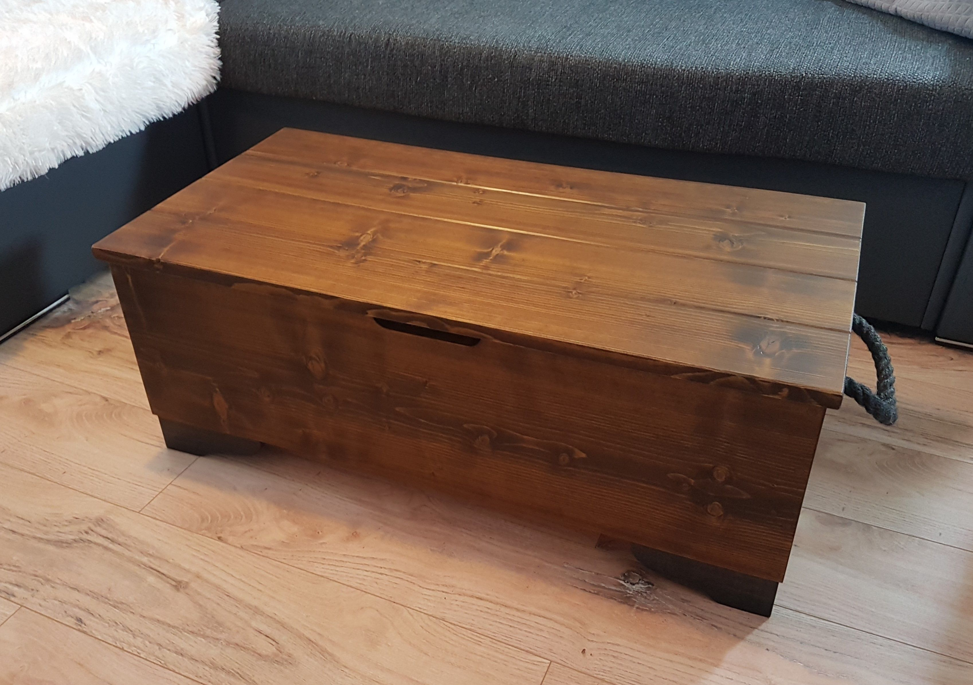 High Quality Rustic Wooden Chest Storage Trunk Blanket Box Etsy Wooden Chest Blanket Box Coffee Table Vintage [ 2389 x 3395 Pixel ]