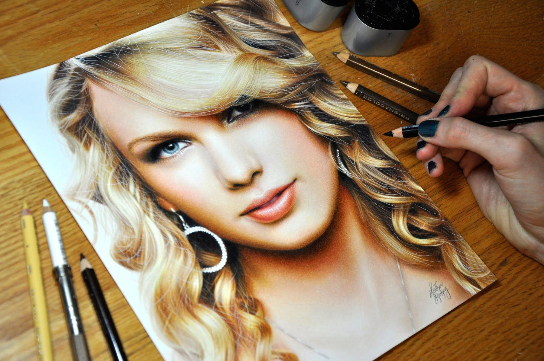 Prismacolor Colored Pencil Drawing Of Taylor Swift My Facebook