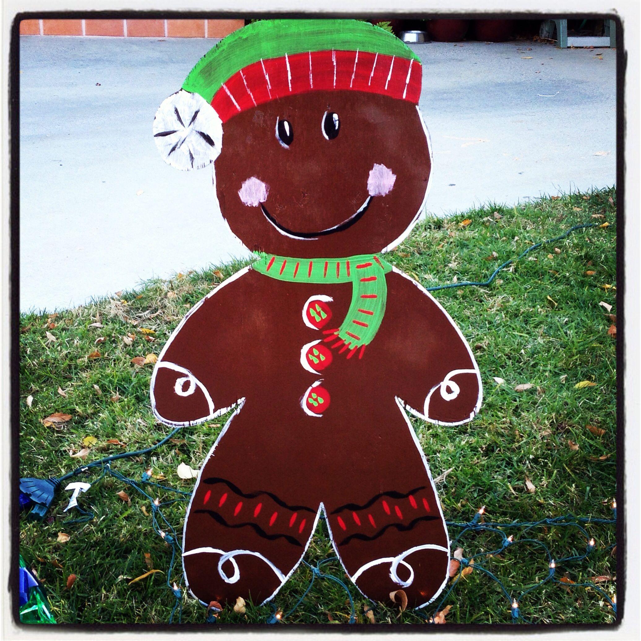 Card Making Shapes Gingerbread Man Embellishments Gift Tag Wooden Cutout