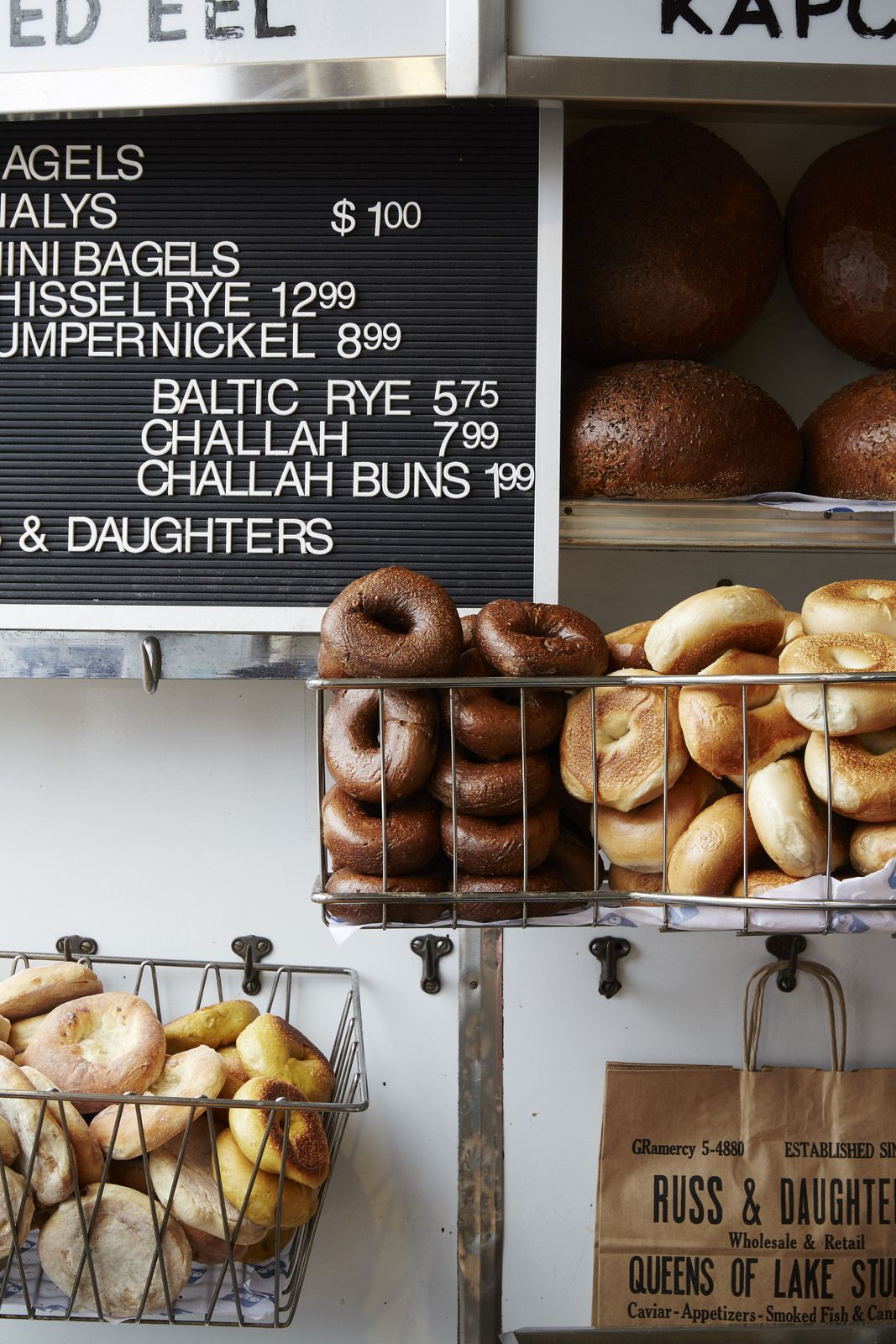 Bagels and buns at Russ & Daughters by Nicole Franzen