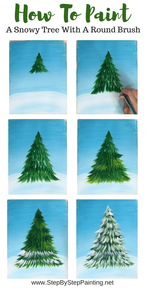 How To Paint A Christmas Tree Holiday Painting Christmas Tree Painting Painting Crafts