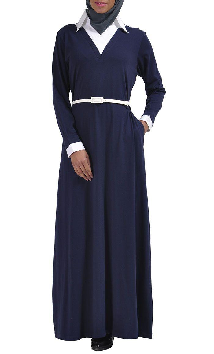 Work-wear Sweater Shirt Abaya. Teaching outfit!