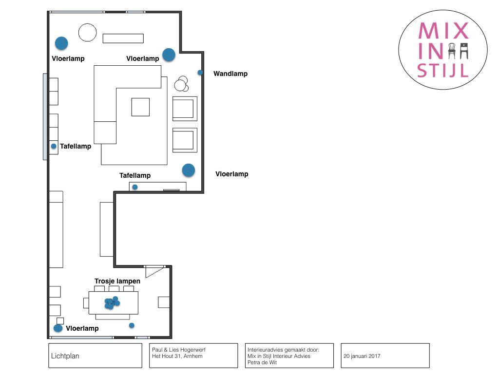 Lichtplan. | woonkamer | Pinterest