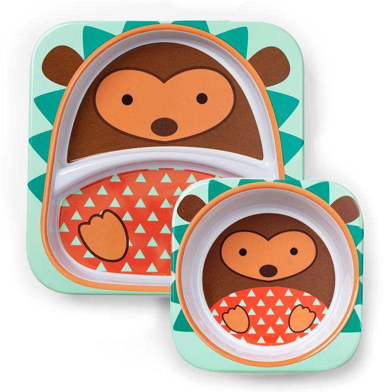 Skip Hop Zoo Melamine Plate and Bowl Set SHARK Feeding Set Dishwasher Safe NEW