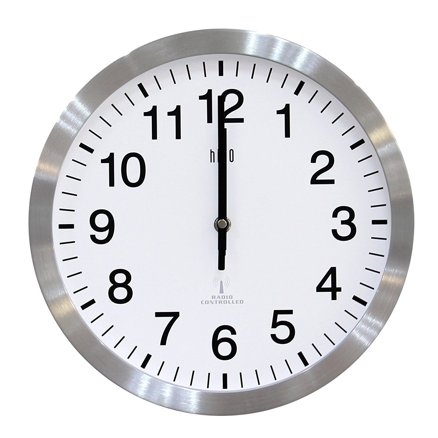 Hito 12 Inches Atomic Self Setting Wall Clock W Metal Frame Acrylic Cover Silver For More Information Visit Image Clock Wall Clock Clocks Going Forward