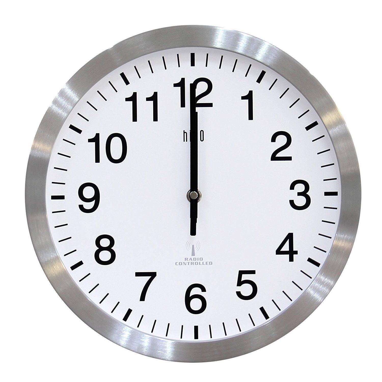 HITO 12 Inches Atomic Self-setting Wall Clock w/ Metal Frame ...