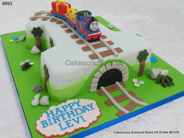 Number 1 Thomas the Tank engine http://www.cakescrazy.co ...