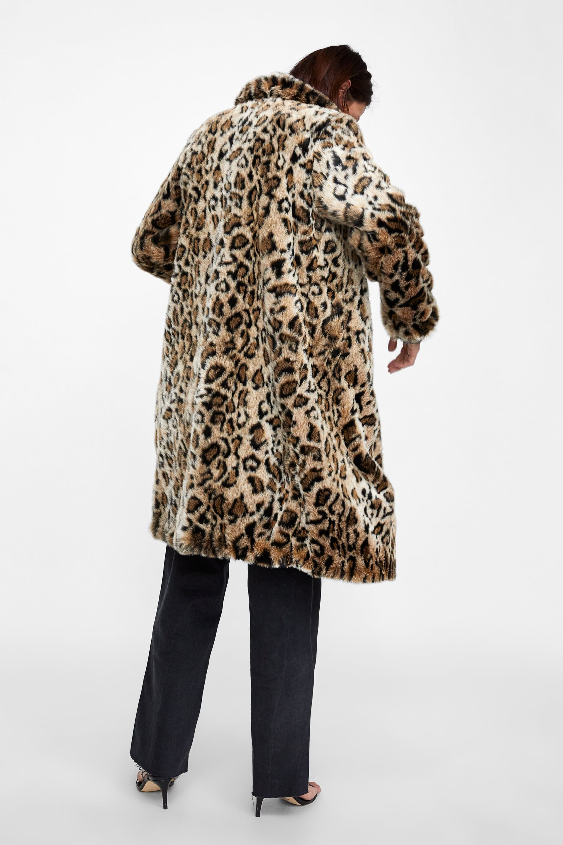 1db5c4489a26 Image 3 of ANIMAL PRINT TEXTURED COAT from Zara | Eclectic closet ...