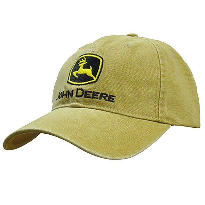 afbefdd6c6b John Deere Men s Low Profile Embroidered Canvas Hat